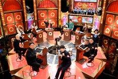 「Qさま!!」に出演する「関東インテリ軍団」。(c)テレビ朝日
