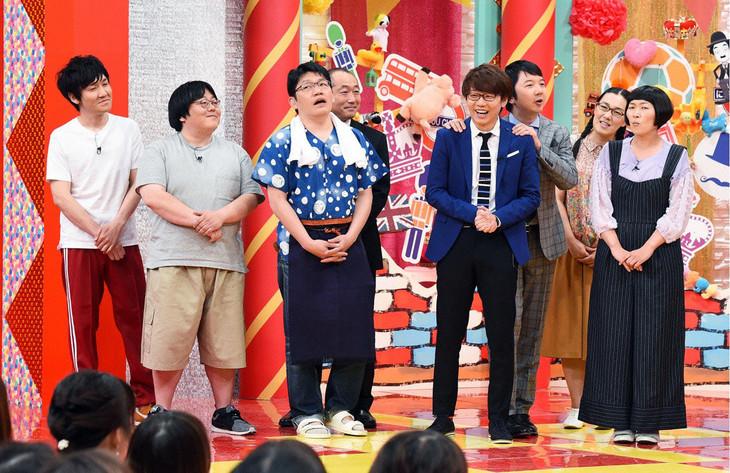 「ドラマに出たい選手権」に出場する(左から)タイムマシーン3号、ずん、三四郎、たんぽぽ。
