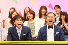 (手前左から)羽鳥慎一、ハライチ澤部。(c)中京テレビ