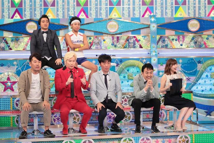 「金曜★ロンドンハーツ」に出演する、有吉弘行率いる「有吉プロダクション」のメンバー。(c)テレビ朝日