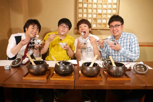 土鍋ご飯を堪能する(左から)ライスと銀シャリ。(c)BS朝日