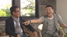(左から)五木ひろしとくりぃむしちゅー上田。(c)中京テレビ