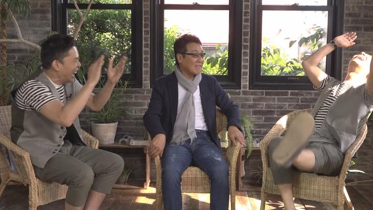 「太田上田」に出演する(左から)爆笑問題・太田、五木ひろし、くりぃむしちゅー上田。(c)中京テレビ