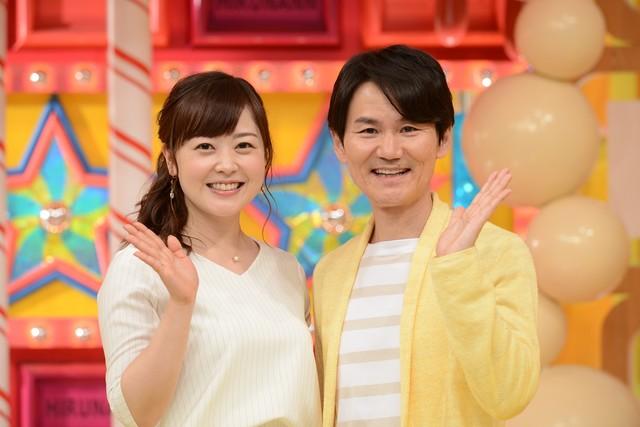 左から水ト麻美アナウンサー、南原清隆。(c)日本テレビ
