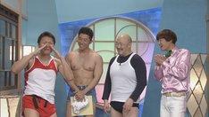 (左から)ザ☆健康ボーイズ、くまだまさし、いっすねー!山脇。(c)CBC