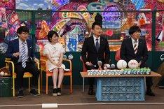 (左から)三四郎・小宮、志田未来、雨上がり決死隊。(c)テレビ朝日