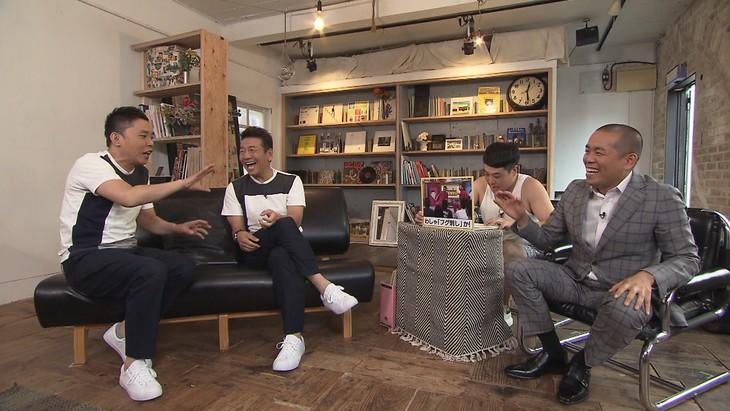 「太田上田」に出演する(左から)爆笑問題・太田、くりぃむしちゅー上田と、ゲストのタカアンドトシ。(c)中京テレビ