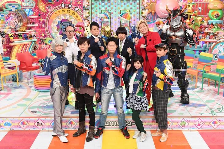 「日曜もアメトーーク!」の「スーパー戦隊大好き芸人」出演者たち。(c)2017 テレビ朝日・東映AG・東映