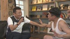 (左から)くりぃむしちゅー上田、タカアンドトシ・タカ。(c)中京テレビ