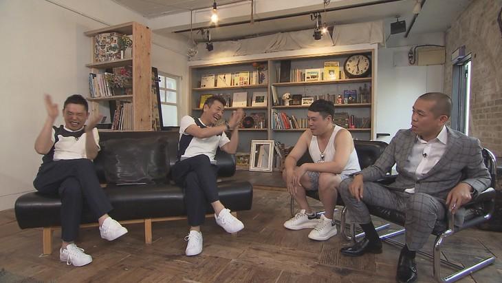 「太田上田」に出演する(左から)爆笑問題・太田、くりぃむしちゅー上田、タカアンドトシ。(c)中京テレビ