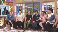 (左から)東野幸治、今田耕司、MOROHA、ダイノジ。(c)CBC