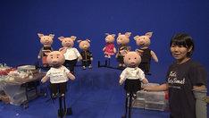 ねほりんぱほりん人形劇の舞台裏。(c)NHK