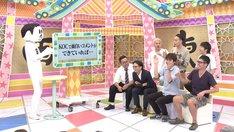 スパローズ(手前右)ら4組によるトークのワンシーン。(c)中京テレビ