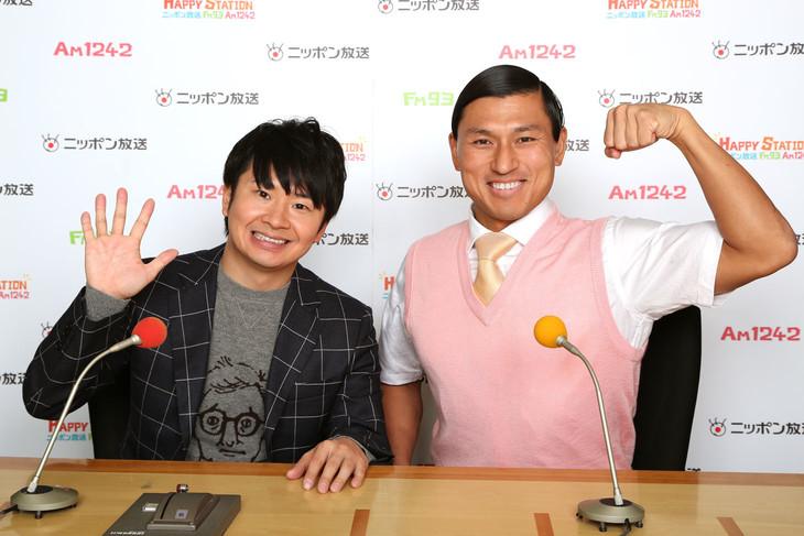 ニッポン放送「オールナイトニッポン」でのお笑いコンビ「オードリー」の画像