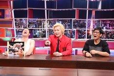 (左から)タカアンドトシ・タカ、メイプル超合金カズレーザー、アンタッチャブル柴田。(c)中京テレビ
