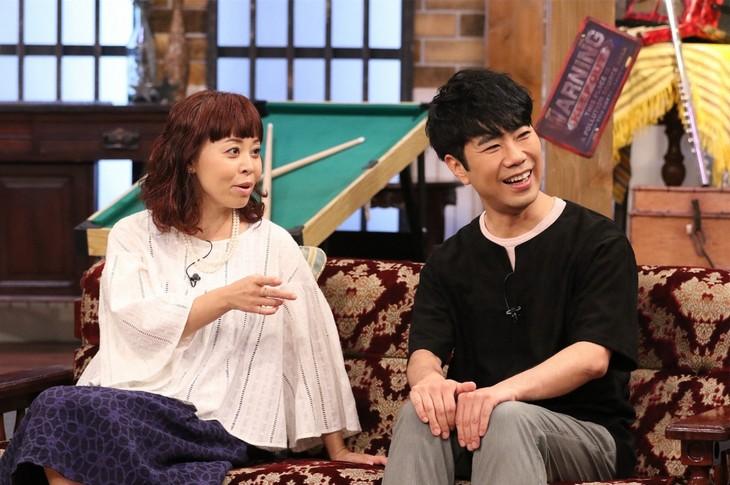 「関ジャニ∞のジャニ勉」に出演する、(左から)なるみ、藤井隆。(c)関西テレビ