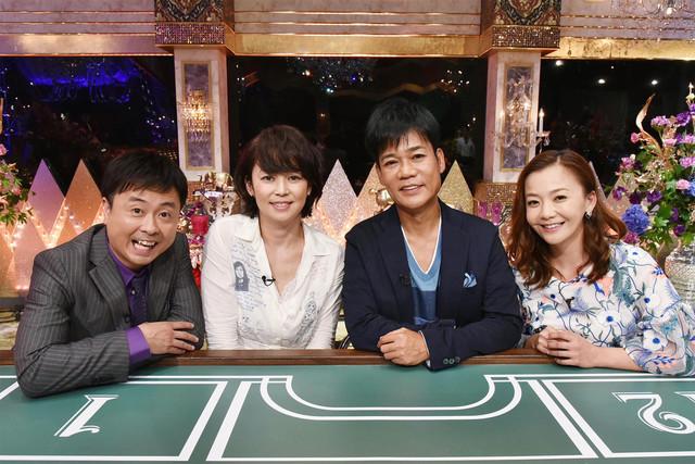 左から次長課長・河本、中島知子、ネプチューン名倉、華原朋美。(c)テレビ東京