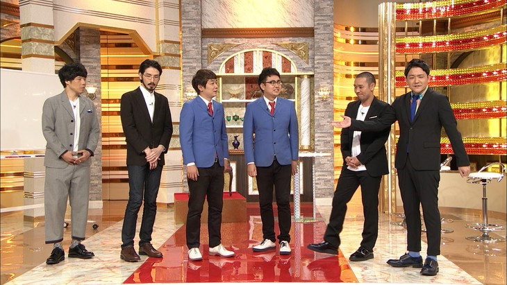 「イッテンモノ」に出演する、(左から)馬鹿よ貴方は、銀シャリ、千鳥。(c)テレビ朝日