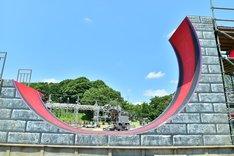 「SASUKE」名物のエリア「そり立つ壁」。(c)TBS