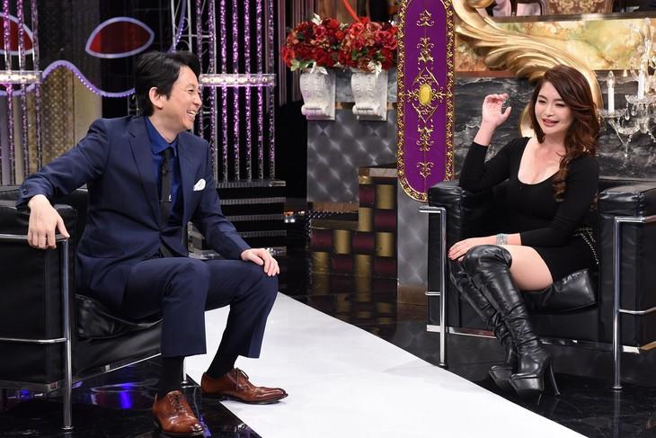 左から有吉弘行、歌恋。(c)日本テレビ