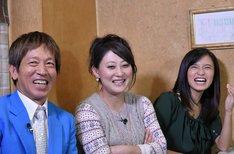 左からちゃらんぽらん冨好、友近、小島瑠璃子。(c)読売テレビ
