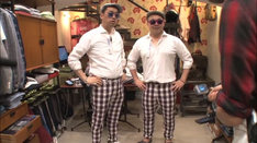 バナナマン設楽(左)とオークラ氏(右)。