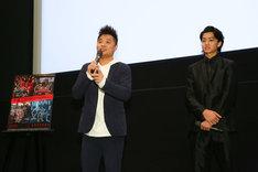 左からバッドボーイズ佐田、健太郎。