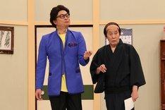 (左から)香取慎吾、萩本欽一。(c)フジテレビ