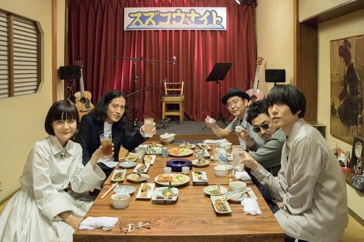 「スカパー!FM579 番外編『スズコウ★ナイト』」の出演者たち。