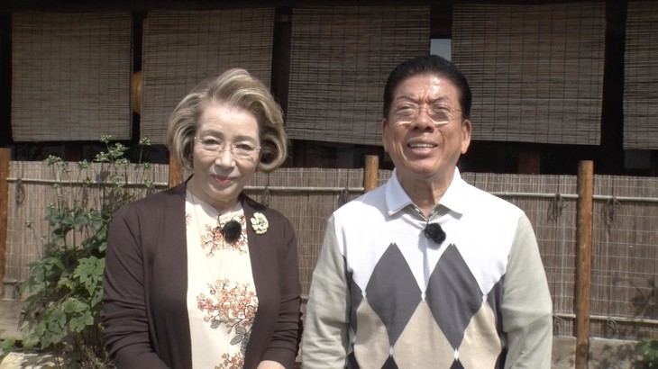 西川きよしと西川ヘレン(左)夫妻。(c)BS-TBS