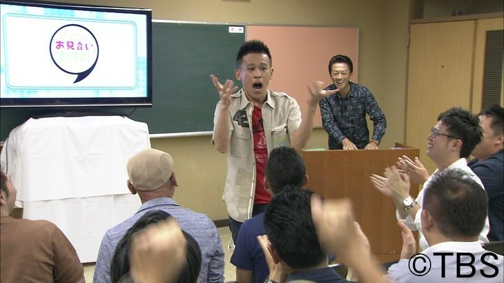 「ナイナイのお見合い大作戦!下呂温泉の花嫁 3時間SP」に出演する柳沢慎吾(中央)。