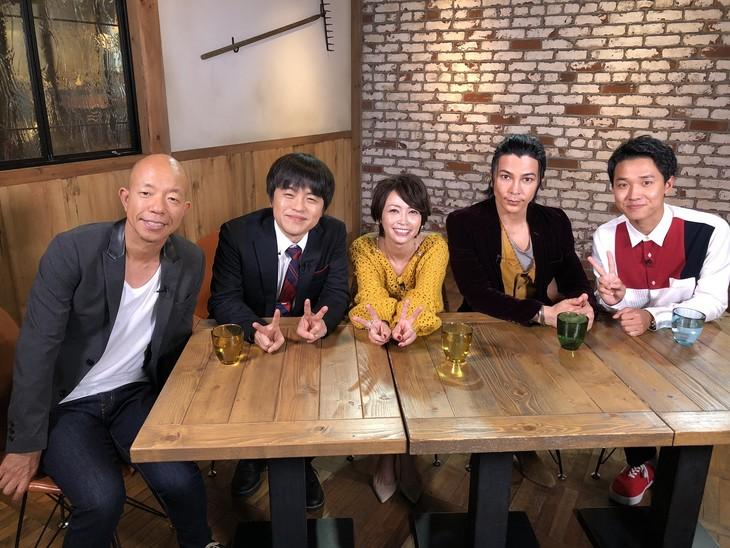 左からバイきんぐ小峠、バカリズム、辺見えみり、武田真治、渡辺裕太。(c)日本テレビ