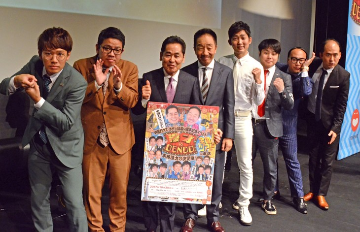 左からミキ、中田カウス・ボタン、NON STYLE、トレンディエンジェル。