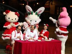 「ピューロクリスマス」先行お披露目会の様子。