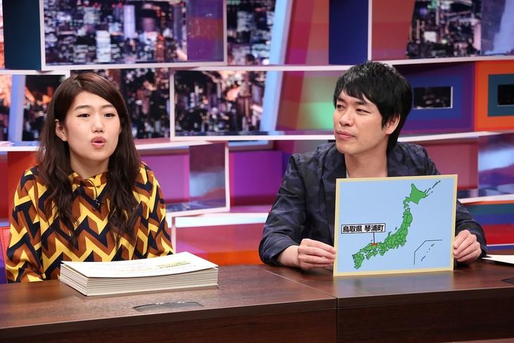 「採用!フリップNEWS」に出演する(左から)横澤夏子、麒麟・川島。(c)中京テレビ