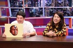 (左から)タカアンドトシ・タカ、横澤夏子。(c)中京テレビ