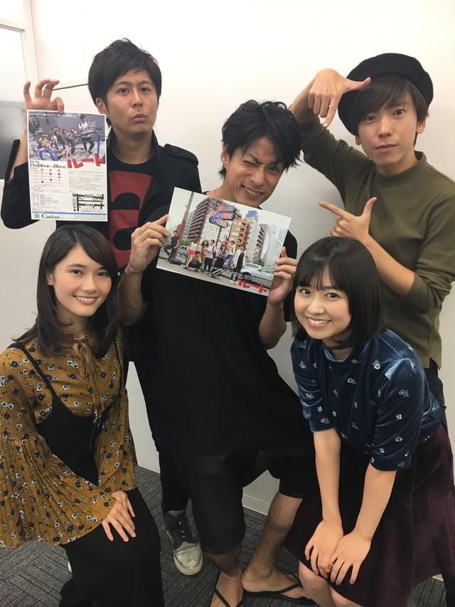 「ショートストーリーロングコント第3回公演『ルート』」に出演するドラマ部のメンバー。