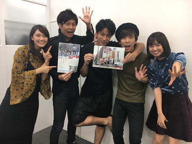 「ショートストーリーロングコント第3回公演『ルート』」に出演するドラマ部のメンバー。左から窪真理、水沢駿、進藤学、大矢剛康、伊倉愛美。