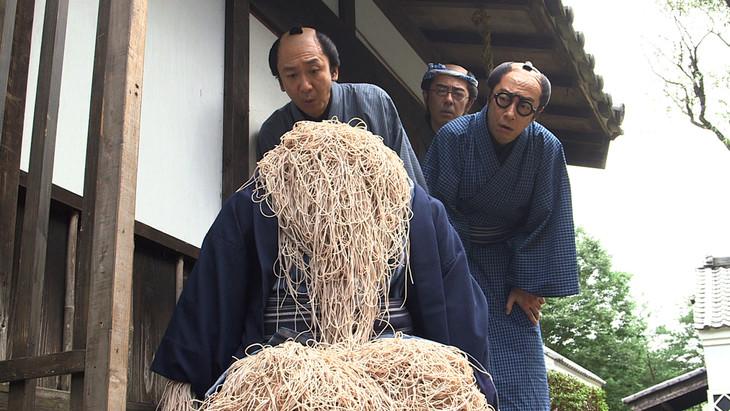 「そば清」を演じる東京03。