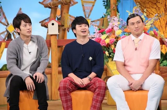 左から溝端淳平、オードリー。(c)日本テレビ
