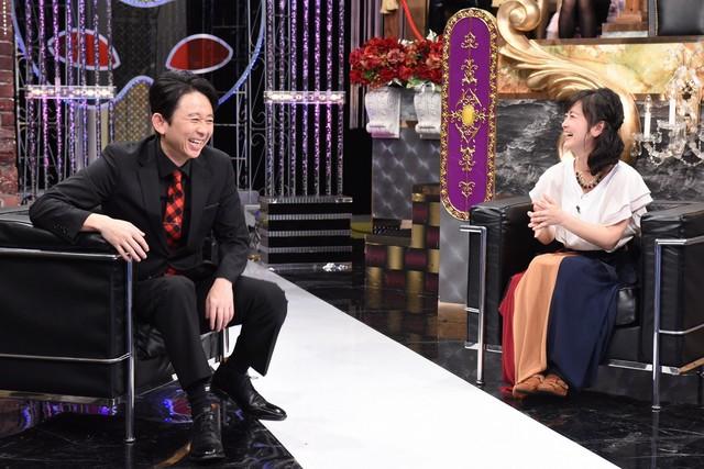 左から有吉弘行、武内由紀子。(c)日本テレビ