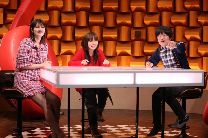 左からマギー、aiko、バカリズム。(c)日本テレビ