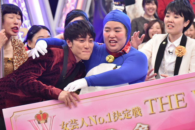 優勝が決定した瞬間のゆりやんレトリィバァ。(c)日本テレビ
