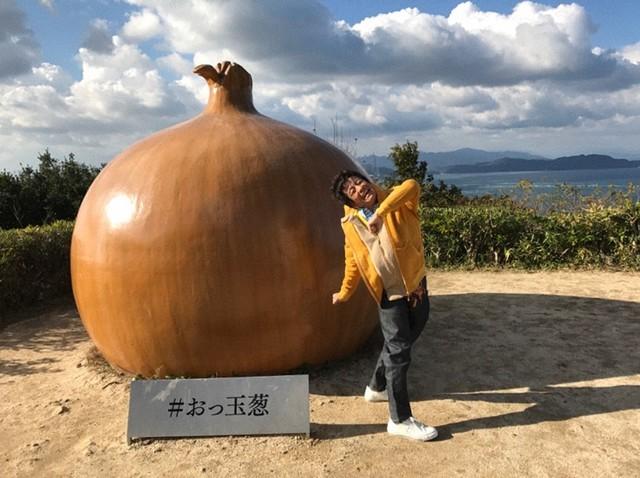 淡路島を訪れるネプチューン堀内。(c)テレビ朝日