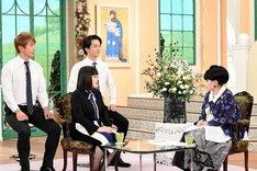 ブルゾンちえみ with Bと黒柳徹子。(c)テレビ朝日