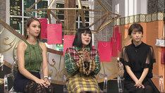 左から滝沢カレン、ブルゾンちえみ、桐谷美玲。(c)日本テレビ