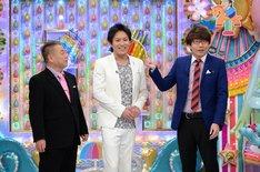 「マセキ3兄弟」の(左から)出川哲朗、狩野英孝、三四郎・小宮。(c)テレビ朝日