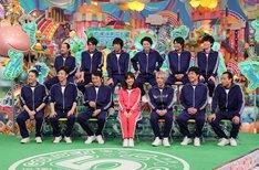 「運動神経悪い芸人2017」の出演者たち。(c)テレビ朝日