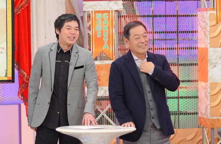 「八方・今田のよしもと楽屋ニュース2017」MCの(左から)今田耕司、月亭八方。(c)ABC