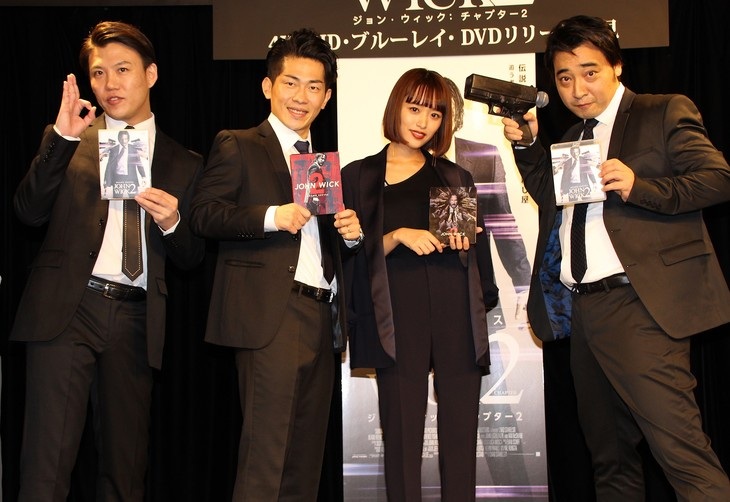 左からジャングルポケットおたけ、ジャングルポケット太田、近藤千尋、ジャングルポケット斉藤。